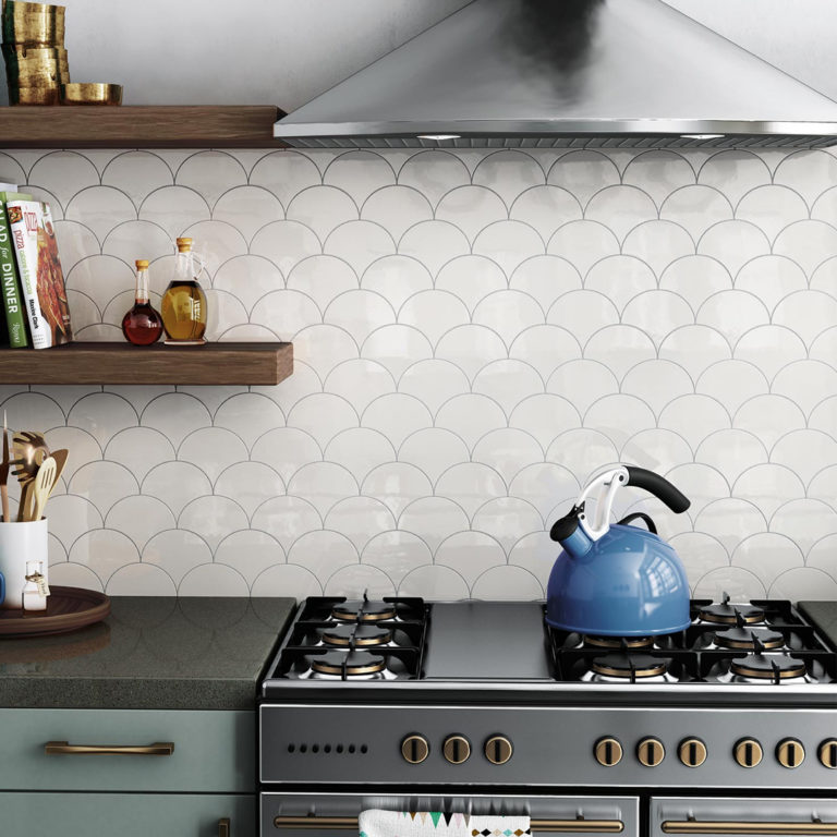 Kök med kakel Scale