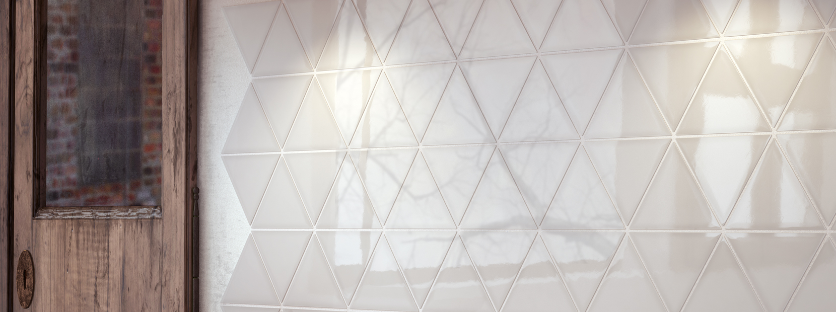 kök med kakel scale triangolo
